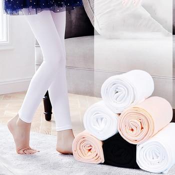 MSemis niños niñas danza Pantyhose medias niños bailarina Color sólido sin costura Leggings mallas gimnasia Ballet Pantalón deportivo