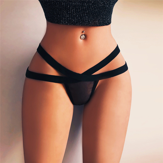 2PC Hot Women Sexy Panties Woman Briefs Black Perspective Panty Sexy Erotic Lingerie Lenceria Mujer Tanga Femme Porno Sex SetA30