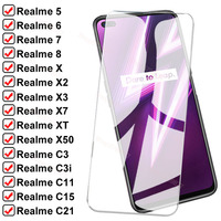 9D Seguridad Protección de vidrio para Realme 5 5 5 6 6 7 8 Pro C3 C3i C11 C15 C21 templado Protector de pantalla en Realme X X2 X3 X7 X50 XT de vidrio