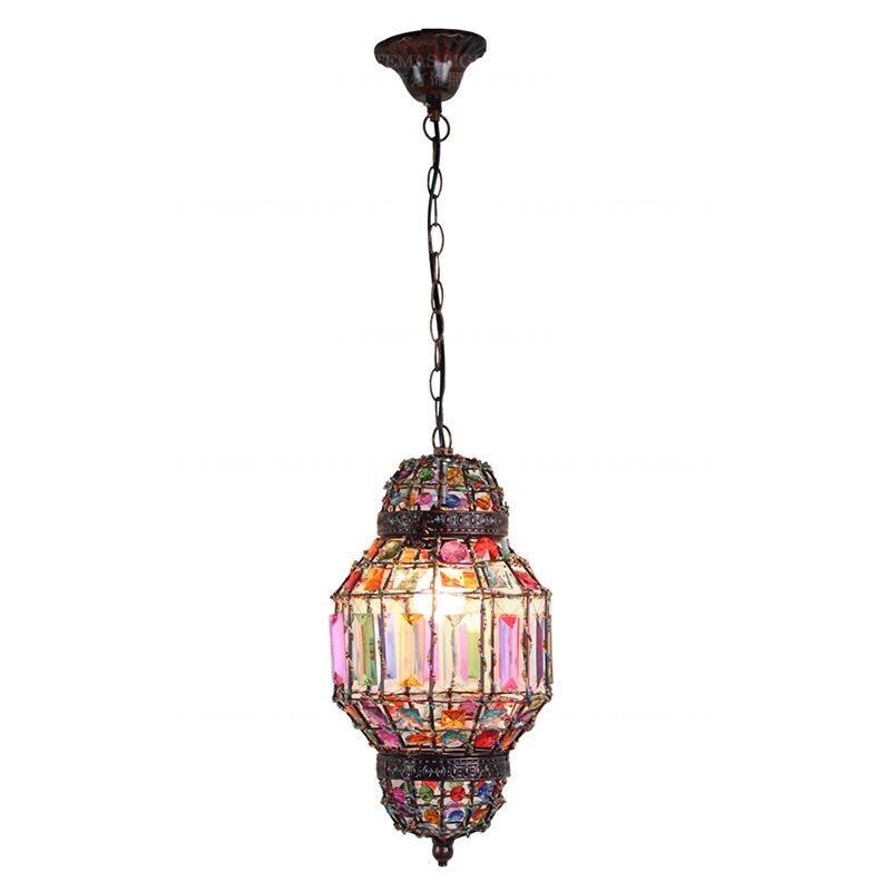 Vintage arabe suspension lumière musulmane 1 lumière colorée suspension rétro suspension lumière CE SASO UL VDE ROHS GS SAA certifié