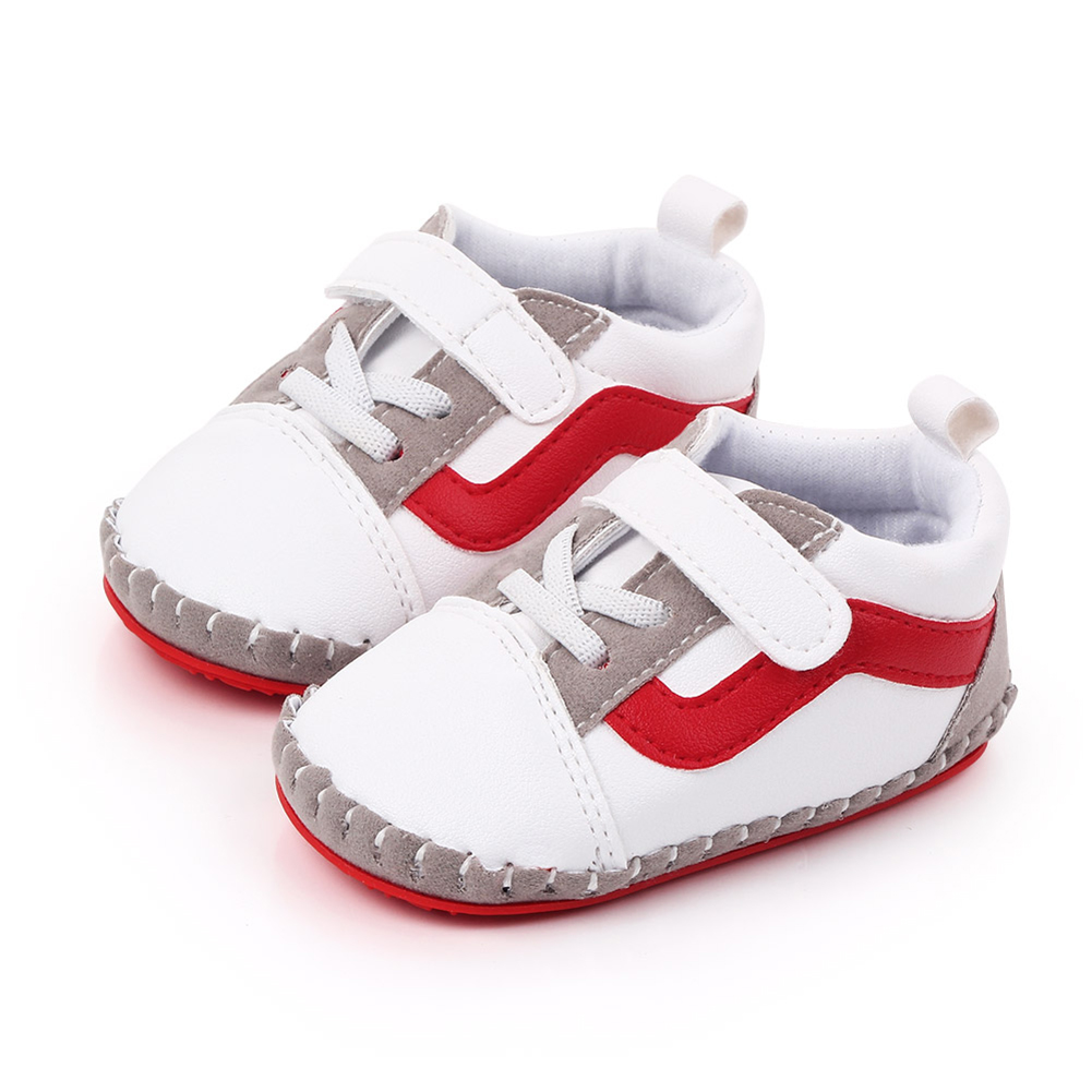 0-12M Baby Boy Girl Breathable Patchwork Design Anti-Slip Casual Sneakers Toddler Soft Soled Walking Shoes