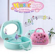 Ballerina Musical Jewelry Box Music Storage Box for Kids Gifts Pink/Blue
