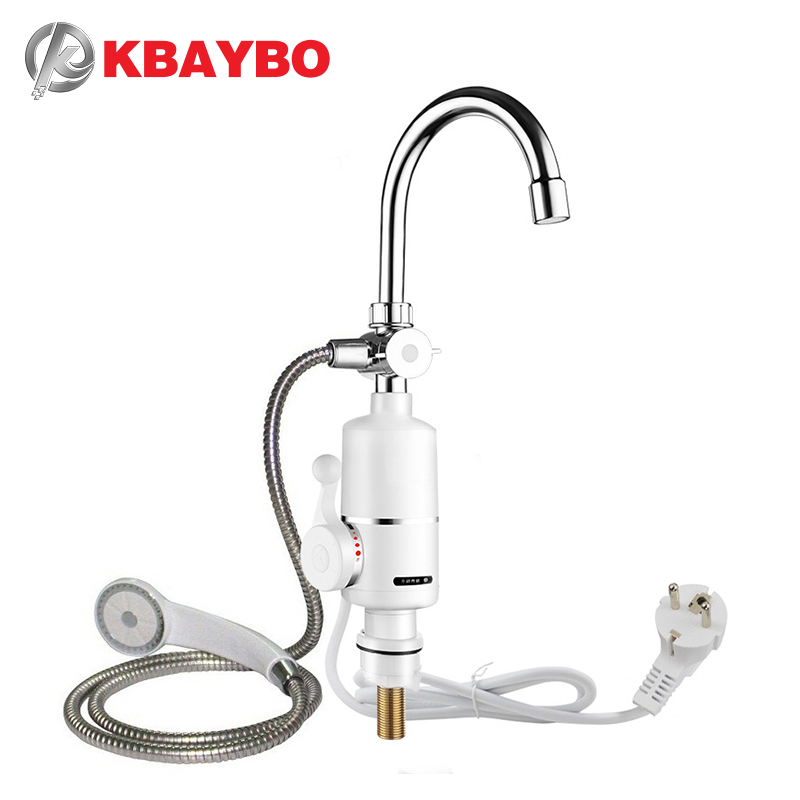 Tankless Water Heater Electric Shower Instant Electric Water Heater Heating Kitchen Bathroom Instant Hot Water Heaters 3000W