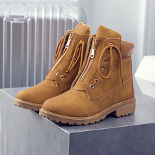 Plus Size Women Martin Boots Autumn /winter Boots Classic Zipper Snow Ankle Boots Winter Suede Warm Fur Plush Women Shoes Mujer z suo british style cow suede upper rubber outsole women s ankle boots autumn winter zipper decorated female martin boots zs1011