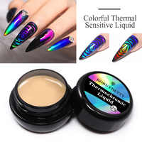BORN PRETTY Thermal Sensitive varnish Colorful Temperature Color Changing 2g Soak Off UV Nail Art Design Varnish