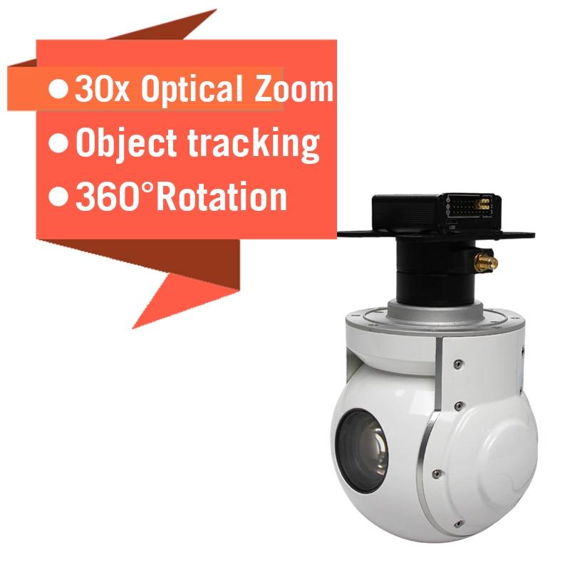 Zoom cámara para Dron 30x optical 2 axis para fix wing uav aviones de inspección aérea Industrial