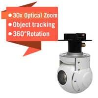 Zoom caméra pour drone 30x optique 2 axes pour aéronef sans pilote (UAV) à aile fixe avion aérien Inspection industrielle arpentage recherche sauvetage
