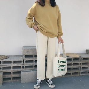 Image 2 - מכנסיים נשים 2020 מוצק פשוט כל התאמה ישר כיסי פנאי מכנסיים נשים גבוהה מותן Harajuku קוריאני מכנסיים Ulzzang שיק
