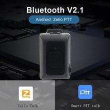 2019 אלחוטי Bluetooth PTT בקר ללא ידיים ווקי טוקי כפתור עבור אנדרואיד IOS טלפון נייד נמוך באנרגיה עבור Zello עבודה