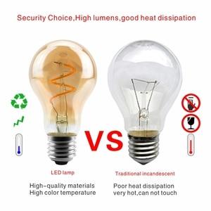 Image 4 - Dimmable אדיסון מנורת 4W 2200K C35 T45 A60 ST64 G80 G95 G125 ספירלת אור LED נימה הנורה רטרו מנורת תאורה דקורטיבית