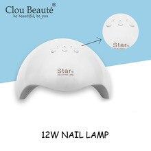 Clou Beaute aparatos de manicura secador de uñas todo para herramientas de manicura 12W 12 Uds lámpara LED para uñas para manicura lámpara de uñas de Gel