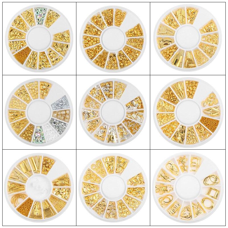 3D металлические заклепки для украшения ногтей DIY Шарм Маникюр маленькие неправильные бусины ювелирные изделия маникюр Дизайн ногтей