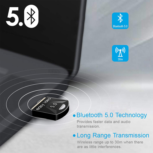 Wireless USB Bluetooth Adapter 5.0 for Computer Bluetooth Dongle USB Bluetooth 4.0 PC Adapter Bluetooth Receiver Transmitter 4