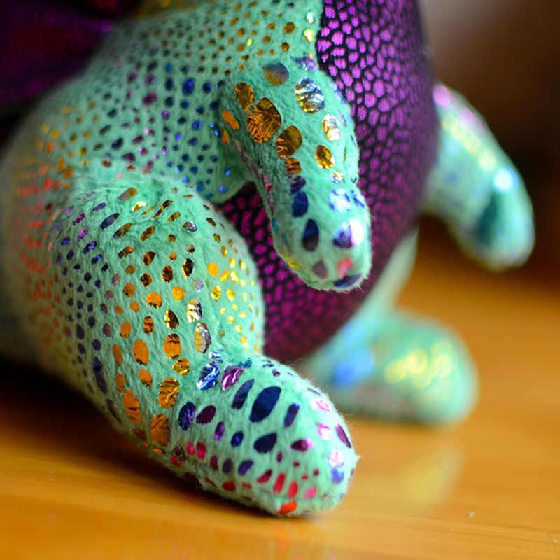 ホットビッグ目の子供ソフトぬいぐるみぬいぐるみスパークルシンダーブロックグリーンドラゴン素敵なクリスマスのギフトかわいいかわいい動物人形動物
