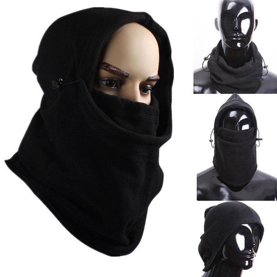 Хит, Мужская армейская Военная Лыжная маска, флисовая Шапочка, вязаная шапка, шапки, утолщенные, для улицы, ветрозащитные, теплые, черные, зим...