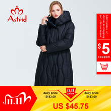Astrid 2019 Winter new arrival down jacket women loose clothing outerwear quality blue color   thick cotton winter coat AR 7051