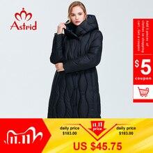 Astrid 2019 Зима новое поступление пуховик женская свободная одежда верхняя одежда высокое качество синий цвет толстый хлопок зимнее пальто AR 7051