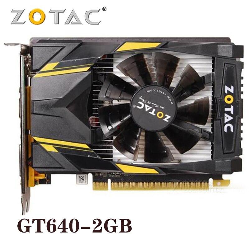 Оригинальная видеокарта ZOTAC GeForce GT640 2 Гб 128 бит графические карты GPU Map для NVIDIA GT640 2GD3 HDMI DVI VGA