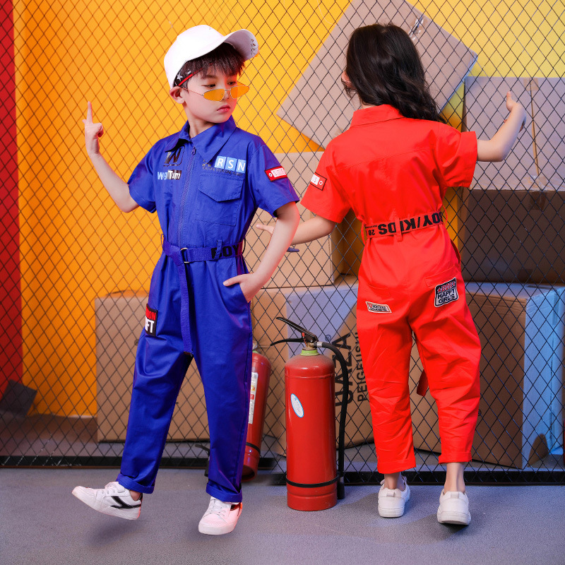 Image 5 - New Kids Clothes Girls Sets Casual Outfit Large Size Turn down collar Tops Jumpsuit Long Pants Waistband Straight Children SetsClothing Sets   -