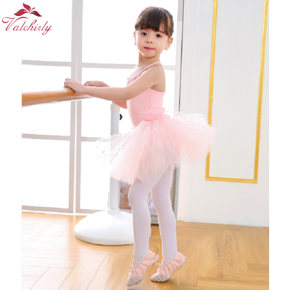 New Ballet Bodysuit Girls Dance Costumes Kids Leotard Tutu Ballerina Sparkled Ballet Clothing for girls