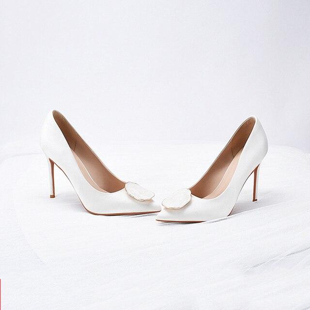 Свадебные  женские туфли на высоком каблуке 3