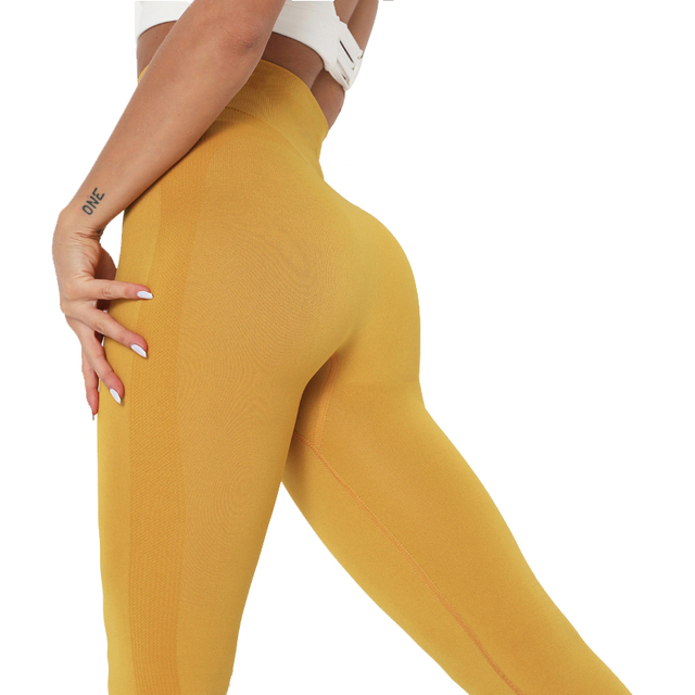 New Women Workout Leggings High Waist Fitness Leggings Female Solid Patchwork Leggings Mujer 11 Color Sexy Athleisure Leggings 1