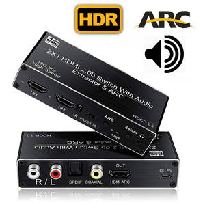 HDMI 2.0 audio extractor splitter 4K HDMI SPDIF HDMI 2.0 Switcher HDR Splitter box HDR ARC HDMI 5.1 audio converter Splitter(China)