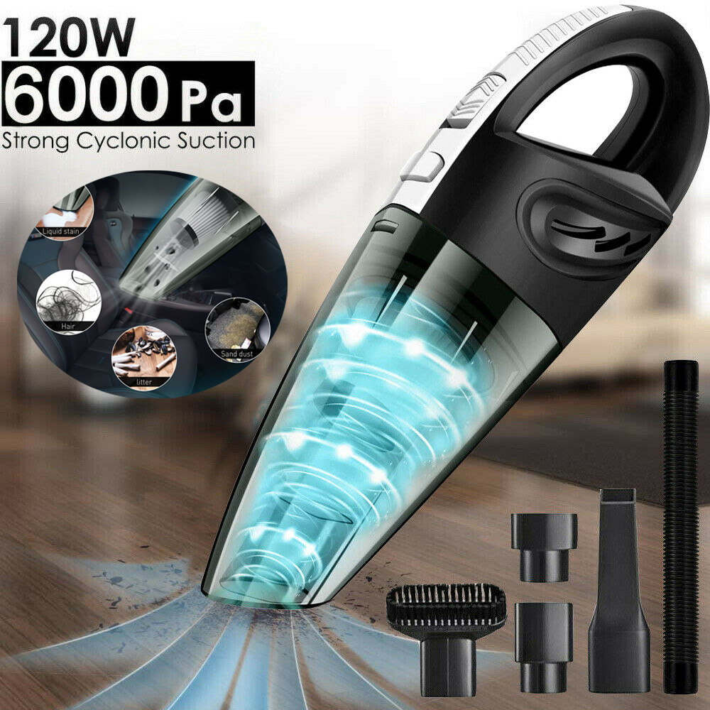 120W Handheld Car Vacuum Cleaner Wireless Wet and Dry Mini 6000pa Rechargeable Super Suction Portable for Car vacuum cleaner