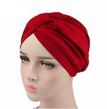 Women Turban Stretchy Spandex Turban Hat Muslim Turban Headwear for Chemo Bandanas Hair Accessories