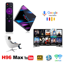 H96max smart tv Media Player TV Box Android 9.0 HD Network box 3318 youtube Quad-Core WiFi 2.4G/5G 4K tv box android boxes цена и фото