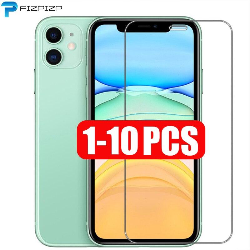 1 2 3 5 10 шт./партия, защитная пленка для экрана, закаленное стекло для iPhone X, XS, 11 Pro Max, XR, 7, 8, SE, новинка 2020, 6, 6s Plus, 5