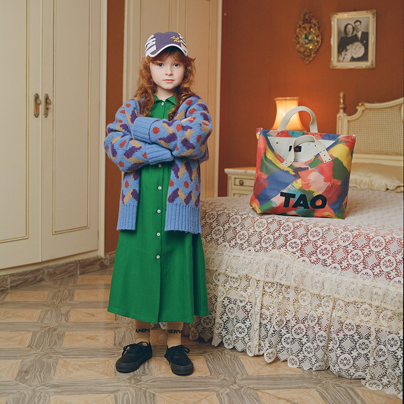 New Autumn Winter TAO Brand Girls Sweaters Long Sleeve Baby Christmas Sweater Kids Cardigan Coats Warm Boys Cardigan Clothes 4