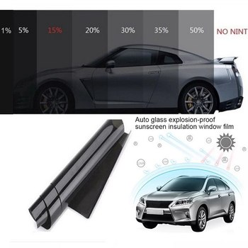 Car heat shield solar film Car Window Glass Building Tinting Film Roll Side Window Solar UV Protection Sticker Curtain image