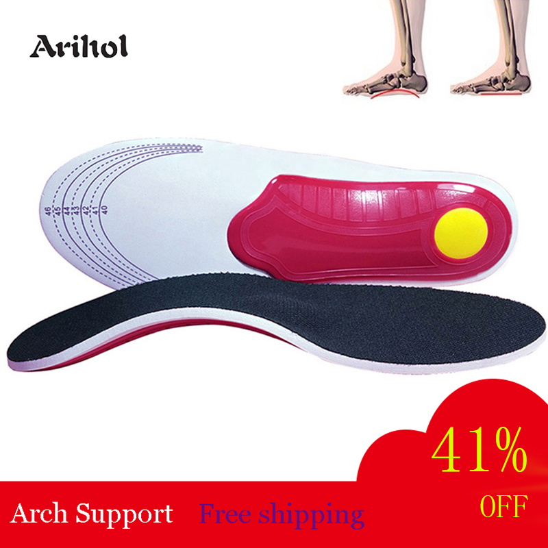 Arihol Arch Support Insole For Flat Feet Men Women Orthopedic Shoe Pad O/X Leg Correction Foot Pain Relief Inner Sole For Shoes