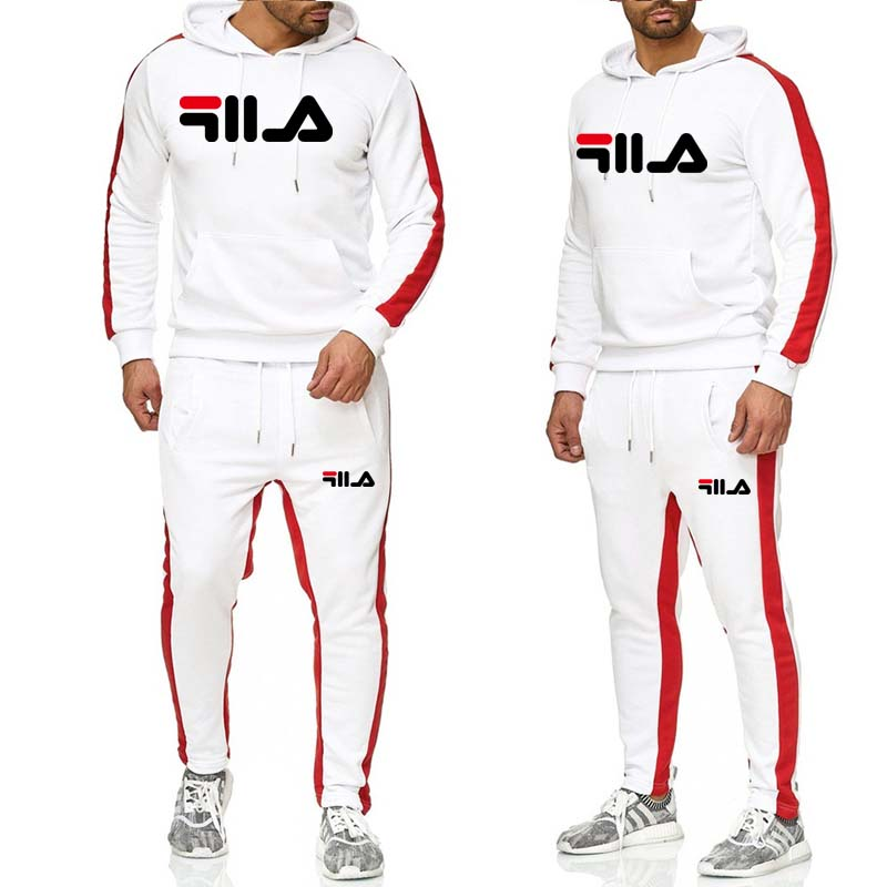 2019 Men's Tracksuit 2 Sets Of New Fashion Jacket Sportswear Men's Sweatpants Hoodies Spring And Autumn Men's Brand Hoodies Pant