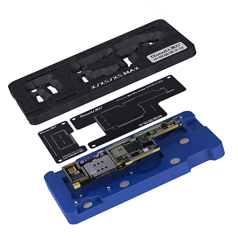 Qianli Mainboard Middle Layer Board BGA Reballing Stencil Plant Tin Platform For IPhone X XS MAX 11Pro Logic Board Rework Tool