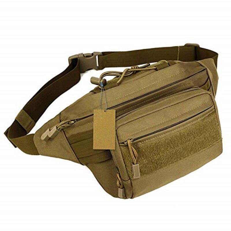 Sac banane militaire sac de taille tactique sac résistant à l'eau sac de ceinture de hanche sac pochette caja fuerte sécréa oculta