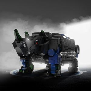 Image 3 - XIAOMI MIJIA 52TOYS Beast Series Plan  Blue armor special police model Toy action figure Deform Robot 5cm Cube Childrens Gift