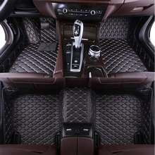 Кожаный изготовленный на заказ Авто Пол коврик для ног защитные чехлы для сидений, сшитые специально для Toyota Corolla Camry Rav4 Auris Prius Yalis Avensis Alphard ...