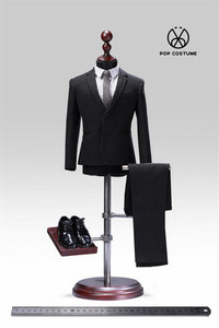 Image 3 - In Stock 1/6 Scale Male Western Suit with Leather Shoes Poptoys X28/X27 Clothes for 12 Inches DIY Narrow Shoulder Body Figure