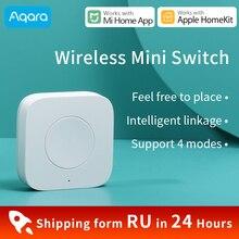 Aqara Draadloze Mini Schakelaar Voor Xiaomi Mijia Smart Home Lichtschakelaar Werken Met Aqara Hub Gateway 3 Mi Thuis Homekit