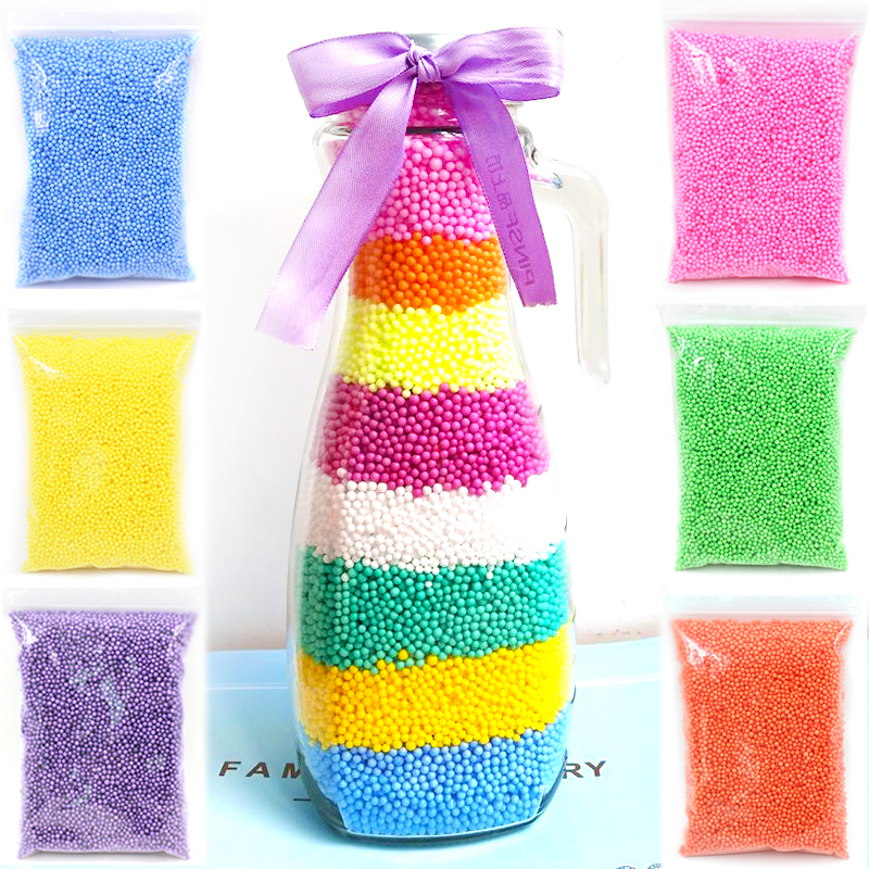 Colorful Foam Beads Slime Fluffy Additives Light Plasticine Balls Tiny Snow Charms Addition For Slime Cloud Mud Antistress Toys
