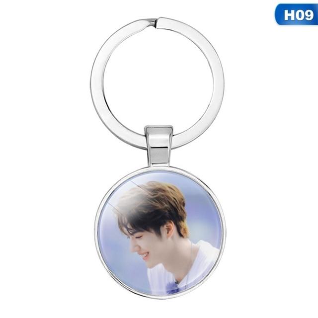 New Trendy Hot Sale  Fashion Keychain Key Ring O Key Chain  Wang Yibo Xiaozhan
