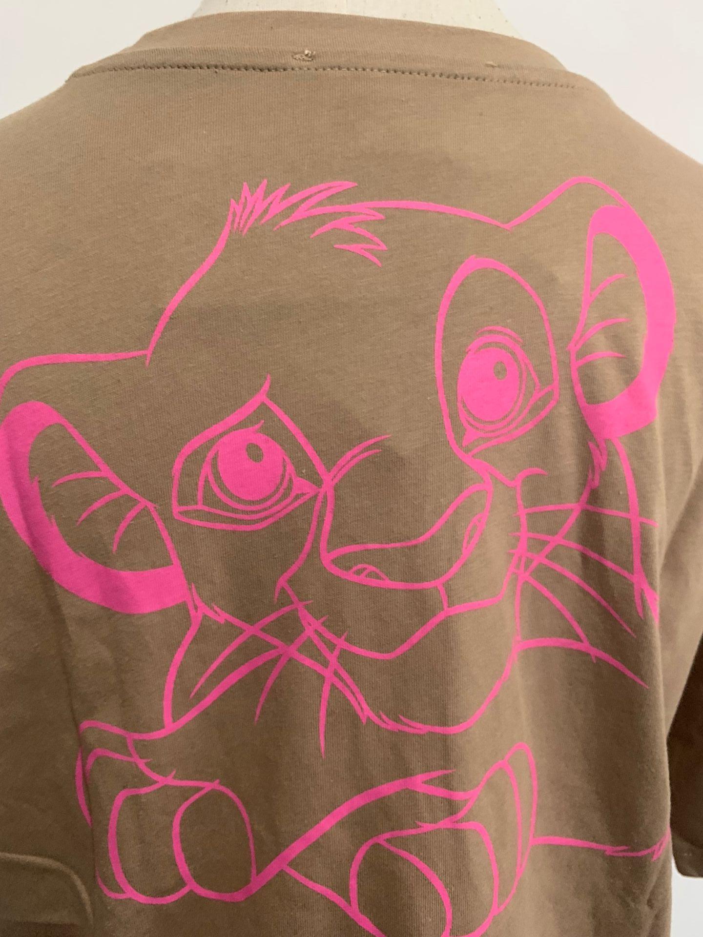 H24339e03a7204d87be011526cd30a500q Disney Family T-Shirt Fashion Winnie the Pooh Mickey Mouse Stitch Fairy Dumbo SIMBA Cartoon Print Women T-Shirt Cotton Tee s