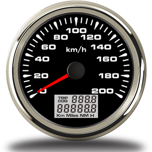 Image 4 - 7 צבעים תאורה אחורית GPS מד מהירות 85mm רכב מד מרחק אוטומטי כוונון טכומטר מכשיר פנל snelheidsmeter מנוע עבור bmw e46