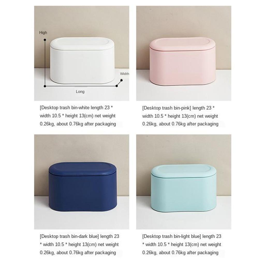 Expressive Desktop Trash Can Small Mini Garbage Plastic Dustbin With Lid Cover For Home Office Desk Car Trash Bin