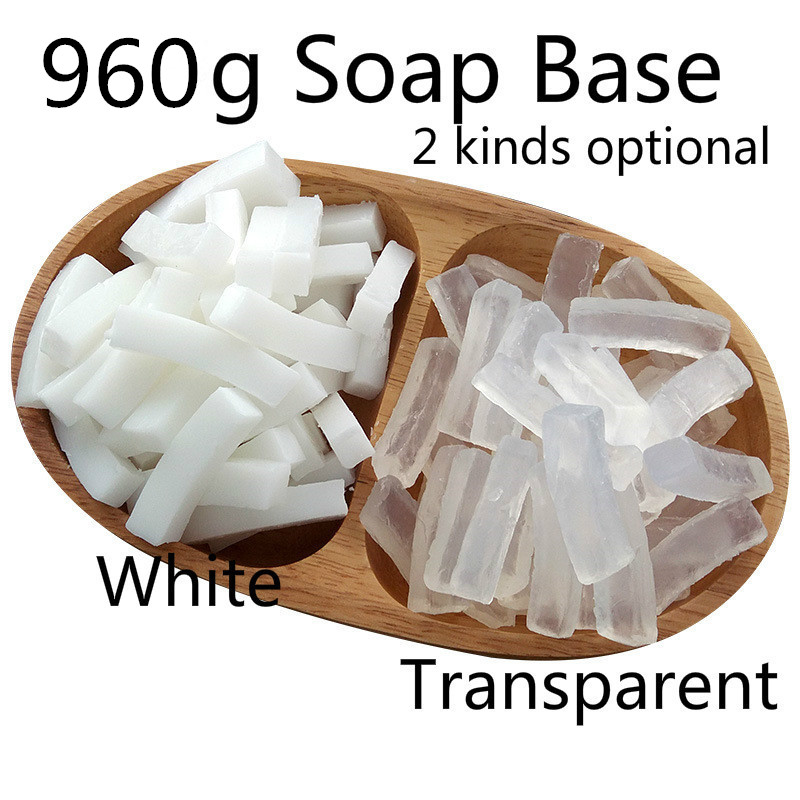 960g White Soap Base, Transparent DIY Soap Base, Makeing Handmade Soap For Washing Body Hand Or Clothes