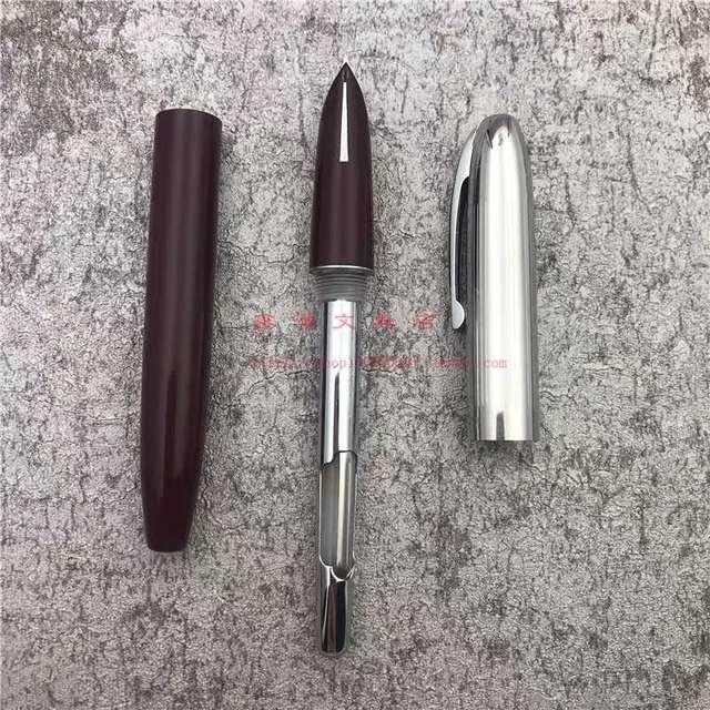 Shanghai HERO 565 Fountain Pen Arrow Mark Ink Pen Stainless Steel Cap Fine Nib Stationery Office school supplies Writing Gift