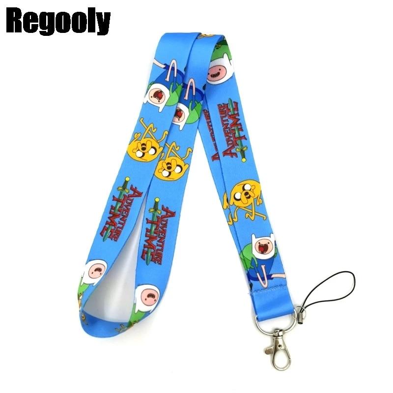 10pcs Japanese anime Neck Strap Lanyard Key chain ID Phone Card Badge Holder