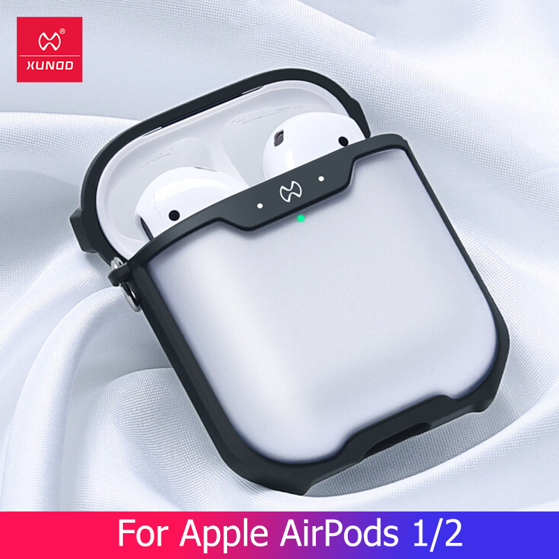 For Apple AirPods 1 2 Case Clear Wireless Bluetooth Earphone Case Protective Shell Luxury With Ring Cover  Business Fashion